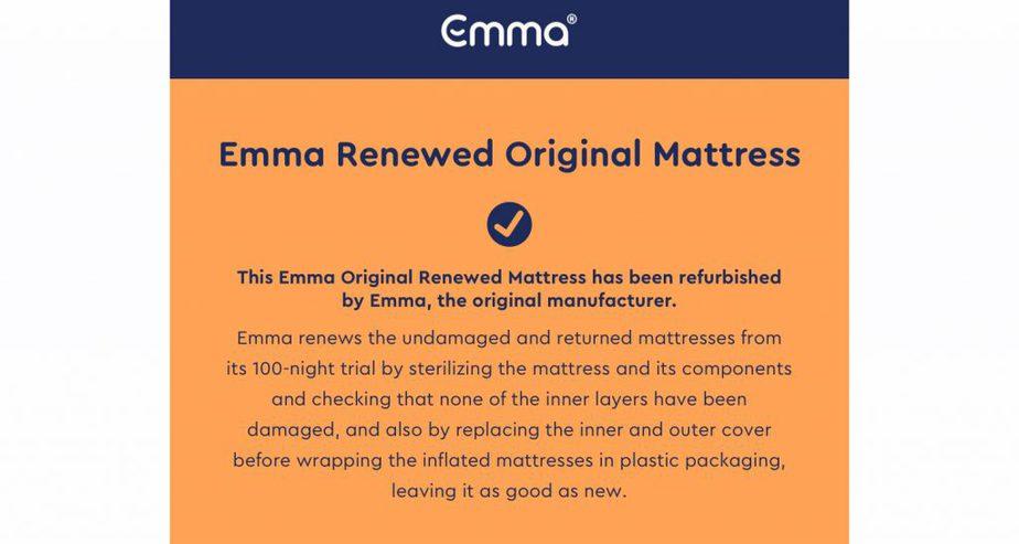 emma rejuvenated refurbished mattress