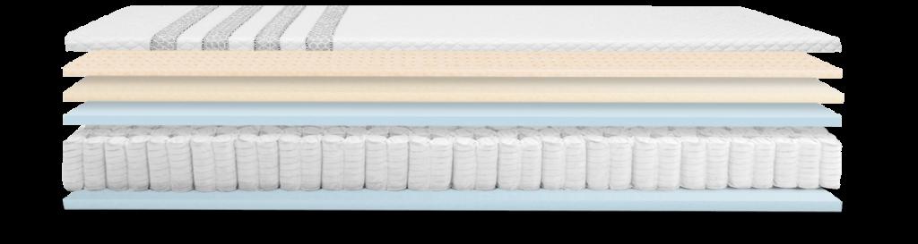 leesa Luxury Hybrid mattress layers