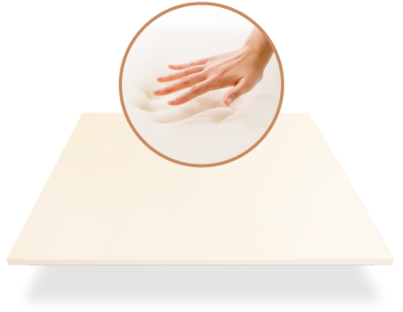 leesa Luxury Hybrid memory foam layer