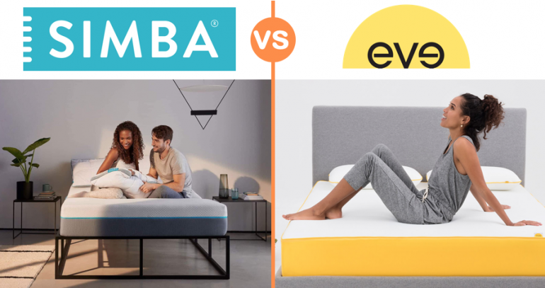 simba vs eve mattress comparison review uk