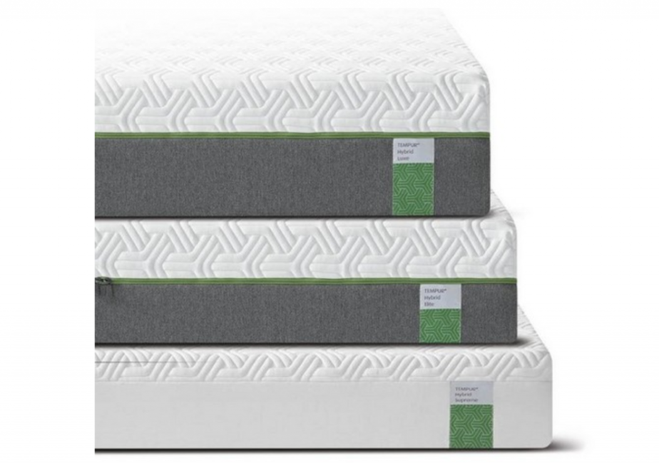 tempur hybrid mattress luxe, elite, supreme