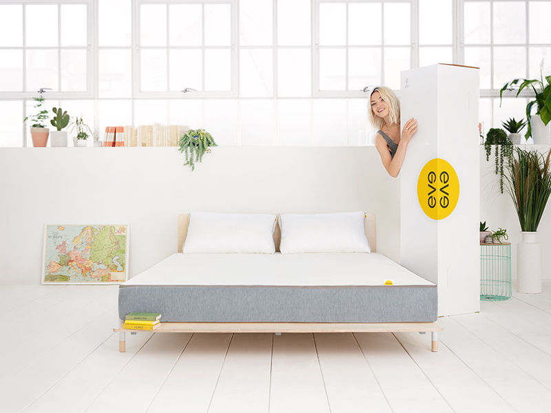 eve hybrid mattress box delivery