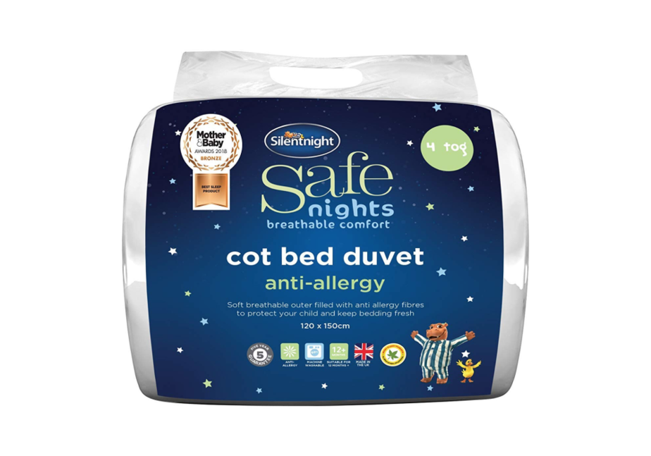 Silentnight Safe Nights Anti-Allergy Cot Bed Nursery Duvet