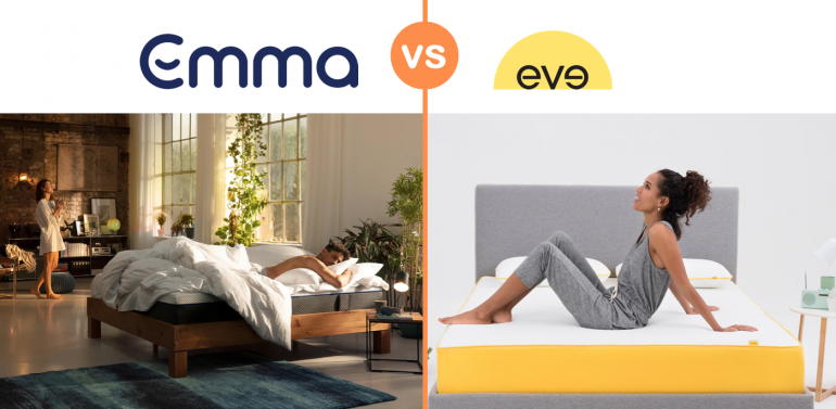 emma vs eve mattress review comparison uk