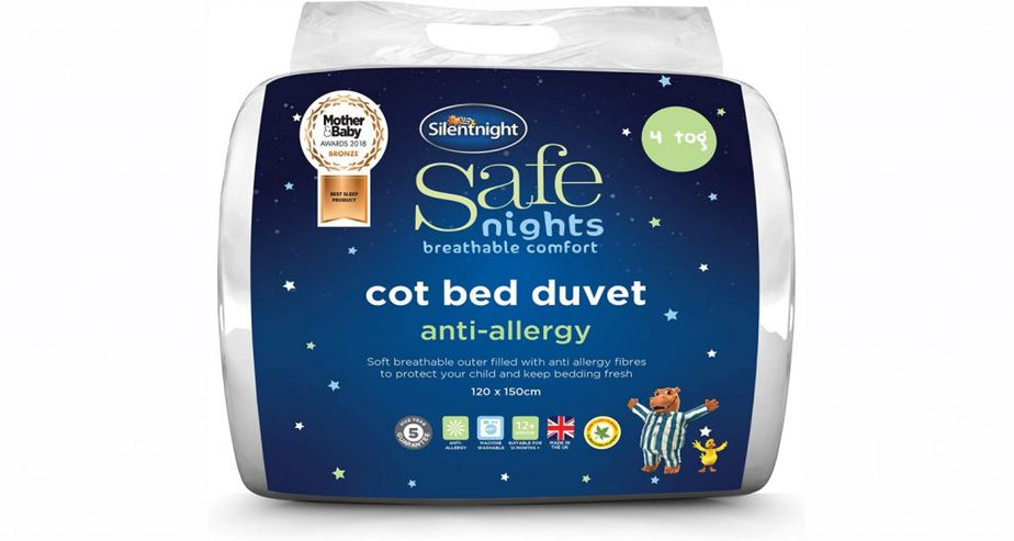 silentnight cot bed nursery toddler duvet uk