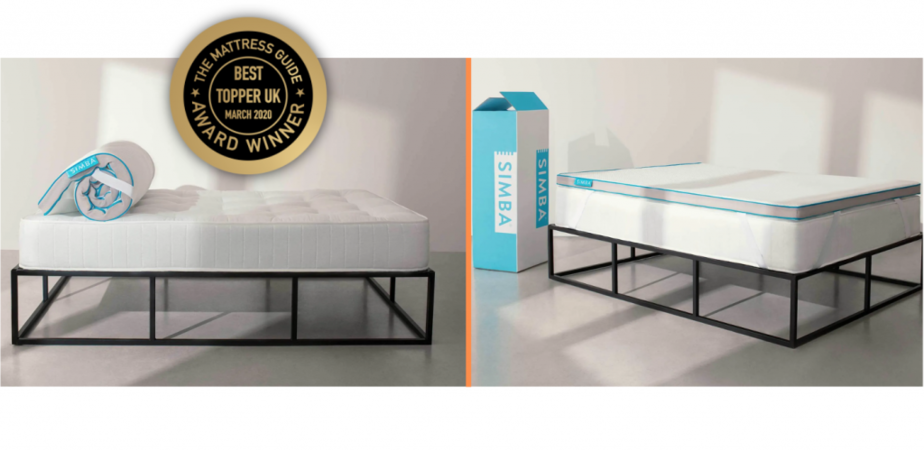 simba hybrid mattress topper - best mattress topper uk