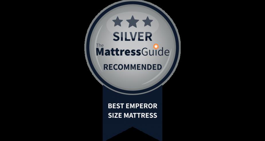 emperor size mattress silver