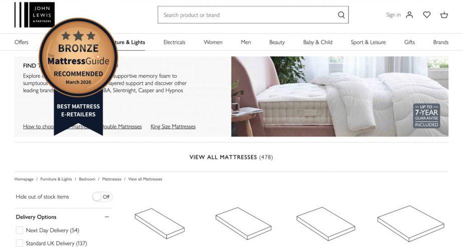 john lewis mattress retailer