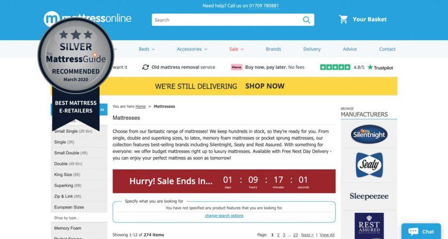 mattress online retailer uk
