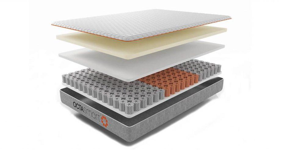 octasmart plus memory foam mattress layer review