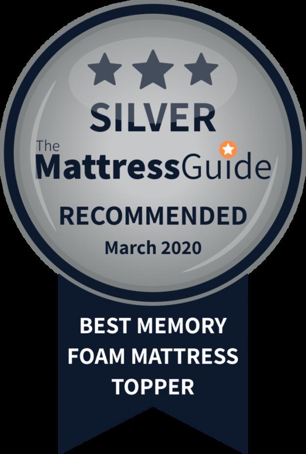 best memory foam topper silver