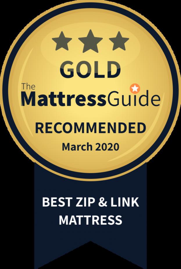 zip link beds gold