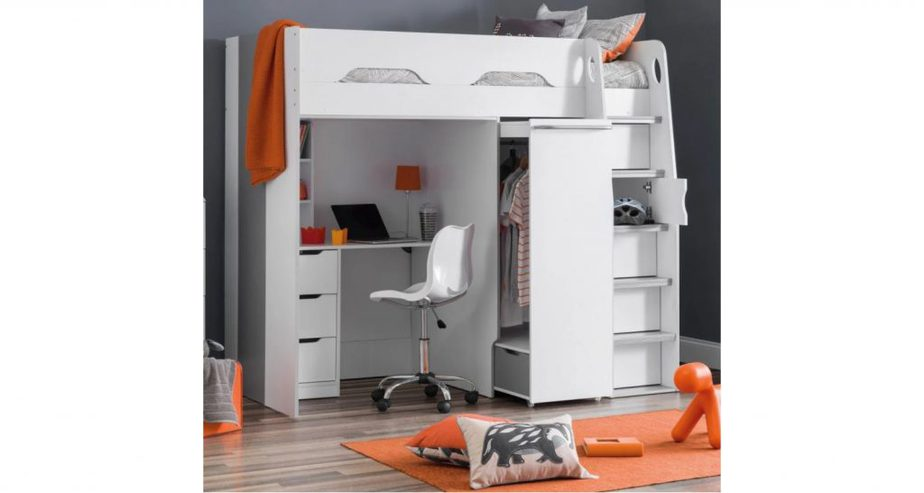 pegasus bunk bed with desk and wardrobe
