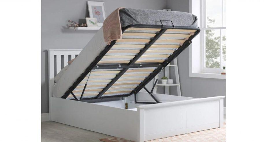 phoenix wooden ottoman storage bed