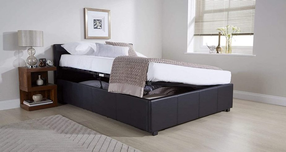 seattle ottoman storage bed lift opening