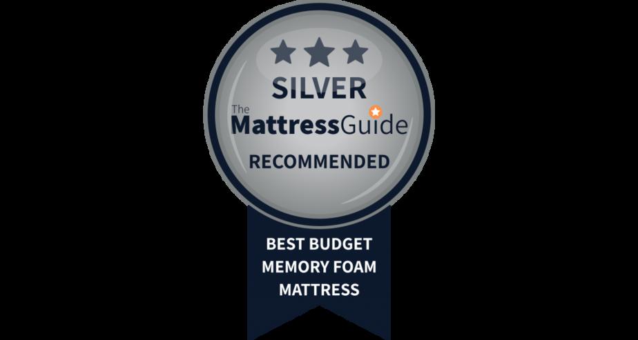 budget memory foam mattress silver
