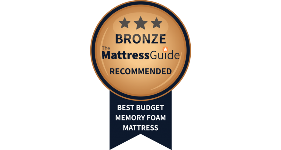 cheapest memory foam mattress bronze award