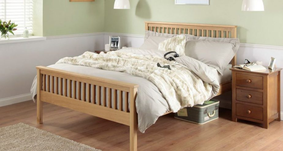 silentnight dakota oak wooden bed frame