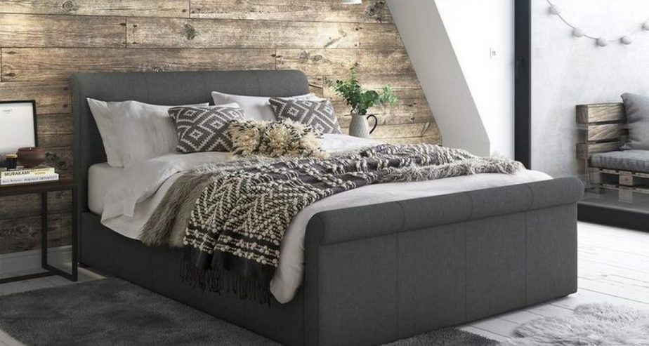 wilson upholstered sleigh bed