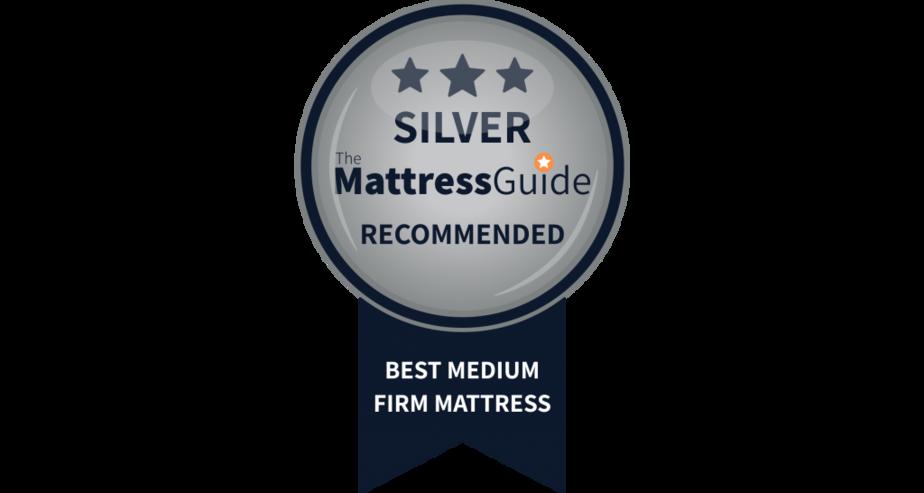 medium firm mattress silver