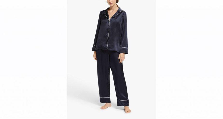 John Lewis Alyssa Piped Silk Pyjama
